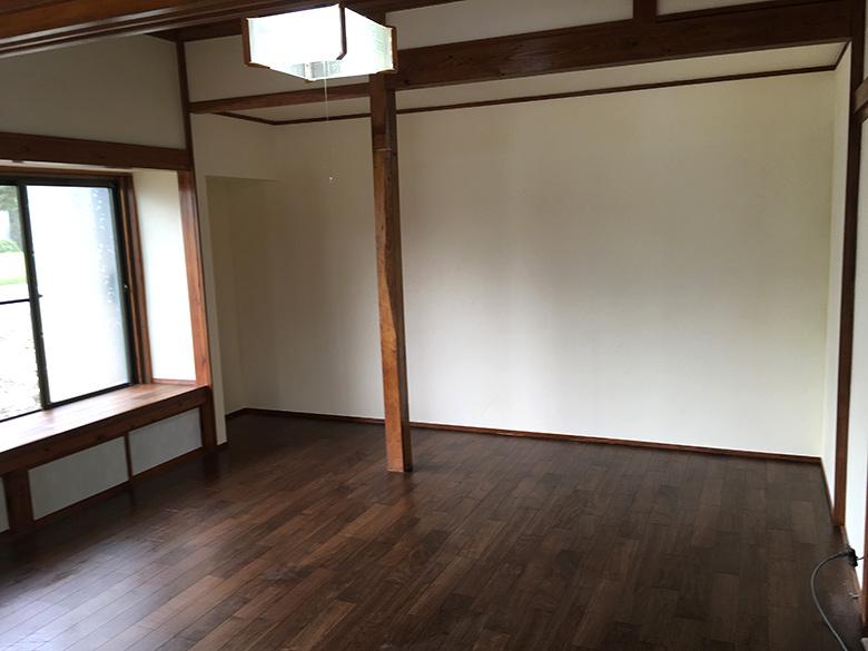 完成した室内